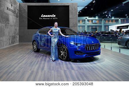 Bangkok Motor show Thailand - April 062017 : MASERATI motor show booth.
