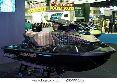 Bangkok Motor show Thailand - April 062017 : SEADOO motor show booth.