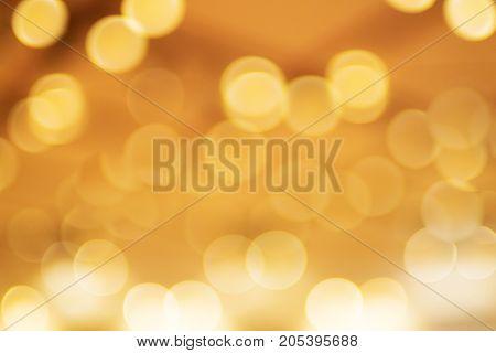Background of circle golden bokeh. Sparkle bokeh.