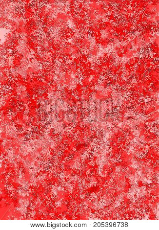 A red abstract background with a cloth like texture