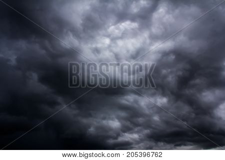 Image of rain cloud storms are falling