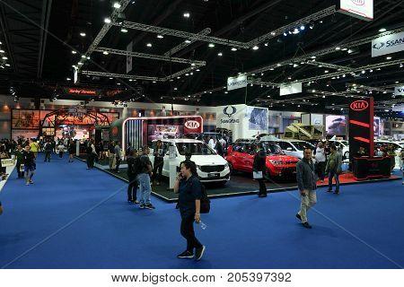 Bangkok Motor show Thailand Muang Thong Thani - March 302017 : KIA motor show booth.