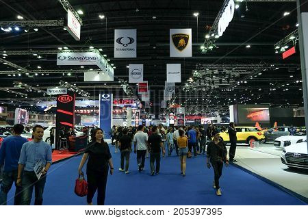 Bangkok Motor show Thailand Muang Thong Thani - March 302017 : show technology cars and motorcycle.