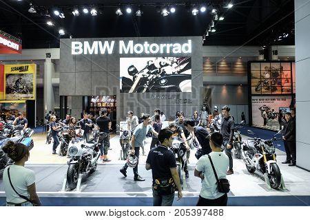 Bangkok Motor show Thailand Muang Thong Thani - March 302017 : BMW motor show booth.