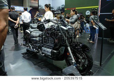 Bangkok Motor show Thailand Muang Thong Thani - March 302017 : Honda motor show booth Honda F6C.
