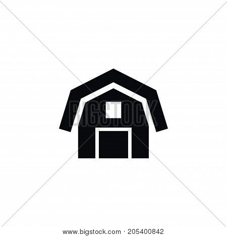 Hangar Vector Element Can Be Used For Barn, Hangar, Farmhouse Design Concept.  Isolated Barn Icon.