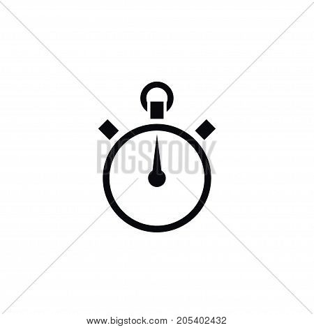 Chronometer Vector Element Can Be Used For Chronometer, Stopwatch, Counter Design Concept.  Isolated Stopwatch Icon.