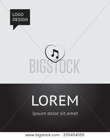 Vector Illustration Of Passion Symbol On Favorite Melody Icon