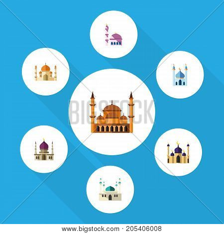 Flat Icon Minaret Set Of Mosque, Religion, Architecture And Other Vector Objects