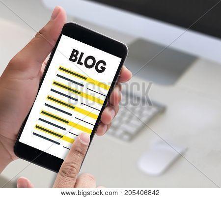 Blog Website Online Internet Web Page Social Media  Connection Network