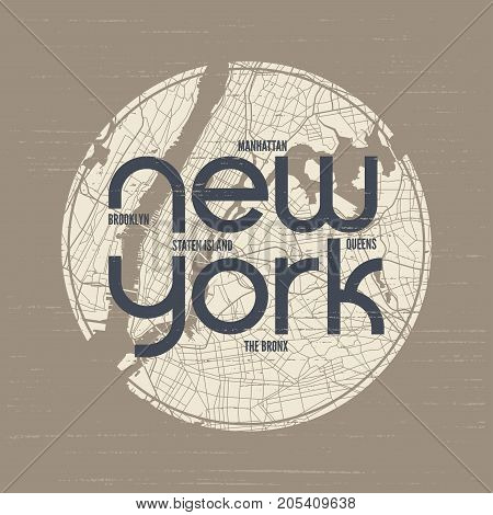 New York t-shirt and apparel vector design, print, typography, poster, emblem