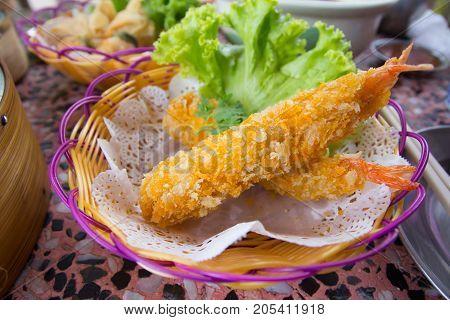 Deep Fried Shrimps Tempura Shrimps (Japanese Cuisine)