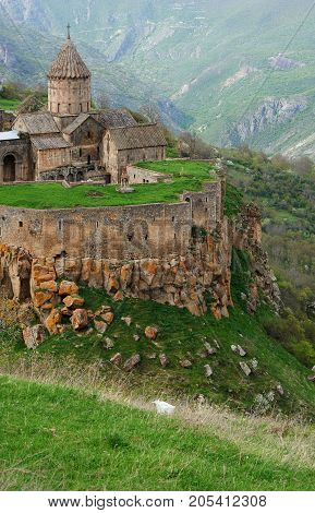 View on the ancient Tatev monastery Armenia