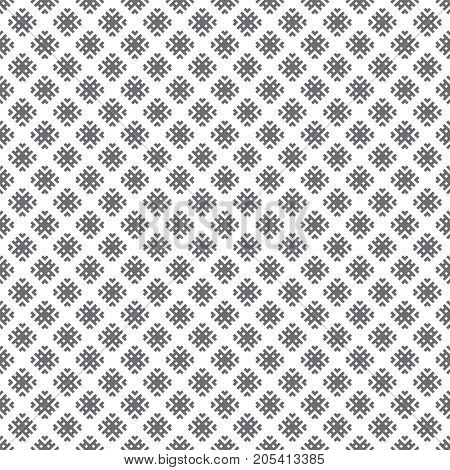 Vector seamless pattern. Abstract small textured background. Classical simple repeating geometrical texture with rhombuses corners. Surface for wrapping paper shirts cloths.