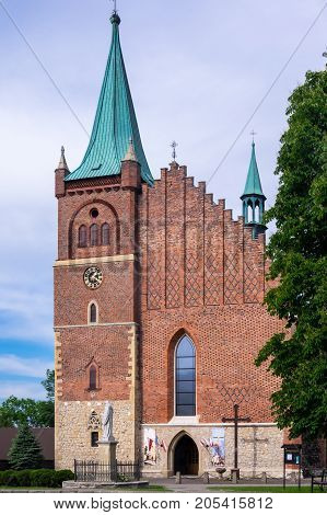 Zator Poland - may 27. Zatorland - Parish of St Wojciech and George. Zator. Poland