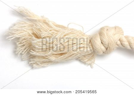 rope on a white background . Photo of an abstract texture
