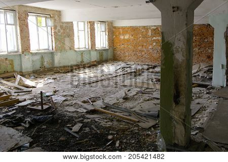 Destroy and plunder shop of the plant which worked in the defense industry of Ukraine. Robbery and an act of vandalism. September 2017