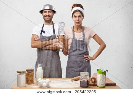 What Should I Do Then? Attractive Housewife Reproaches Husband That He Didn`t Buy All Necessary Prod