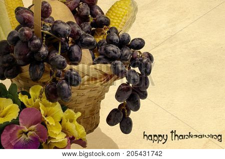 Happy Thanksgiving holiday greeting card background wallpaper