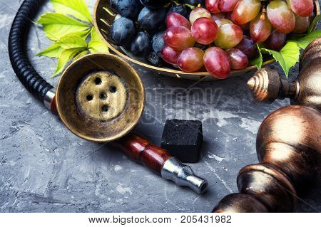 Oriental Hookah With Grapes