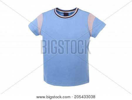 men's t-shirt beautiful light-blue color with a pocket on a breast for walks and sports activities