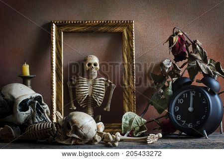 Photography by still life concept time and death