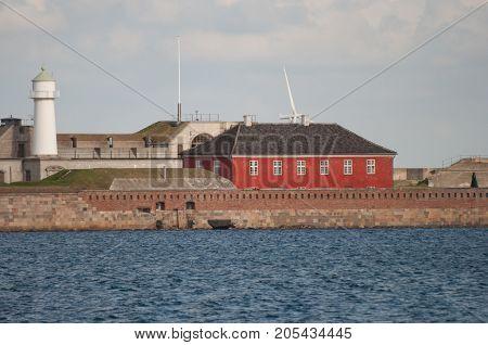 Trekroner Fortress in port of Copenhagen Denmark