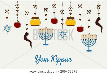 Yom Kippur card or background. vector illustration.