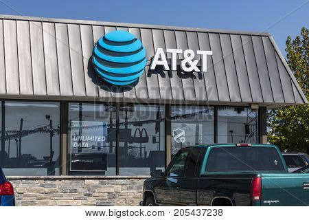 Lafayette - Circa September 2017: AT&T Mobility Wireless Retail Store. AT&T now offers IPTV VoIP Cell Phones and DirecTV XIX
