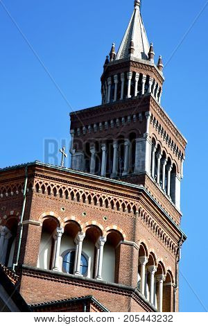 Rose Window  Italy  Lombardy     The Castellanza     Closed Brick   Tower   Tile