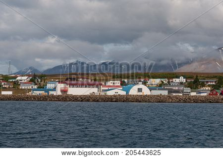 Beautiful village of Hrisey in North Iceland
