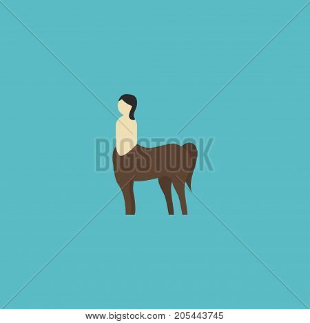 Flat Icon Centaur Element. Vector Illustration Of Flat Icon Mythology Isolated On Clean Background