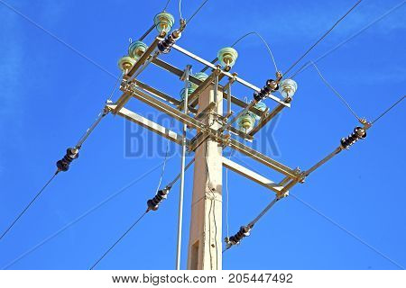 Utility Pole In Africa   Energy And Distribution Pylon