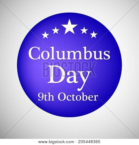 illustration of stars with Columbus Day text on the occasion of Columbus Day