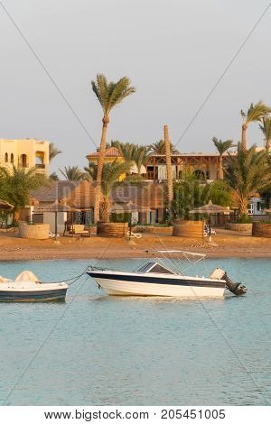 Boat On The Canal In El Gouna