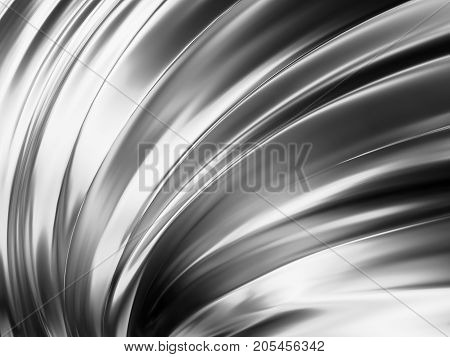 Wave Shape with Lovely Reflections 3D Illustration
