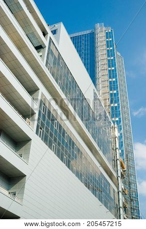 Kiev,Ukraine, October  07, 2011:Building of business center of glass and concrete