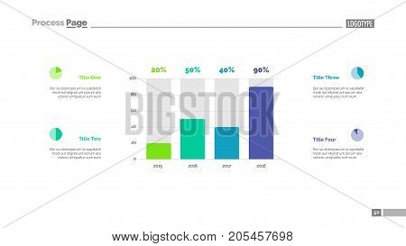 Column chart infographic slide template. Business data. Graph, diagram. Creative concept for infographic, templates, presentation, report. Can be used for topics like analytics, enterprise, structure