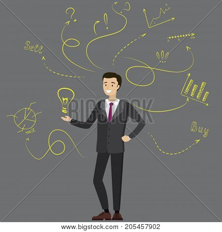 Businessman Or Office Worker With A Good Idea