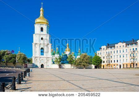 St. Sofia's Square in Kiev at sammer