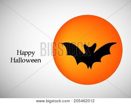 illustration of bat with happy Halloween text on the occasion of Halloween