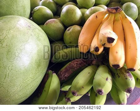 Fruits on the market in Saint Vincent and the Grenadines