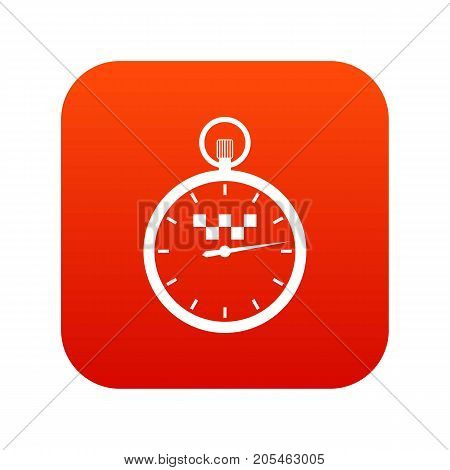 Speedometer in taxi icon digital red for any design isolated on white vector illustration