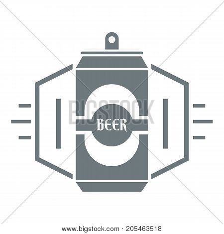 Can beer logo. Simple illustration of can beer vector logo for web