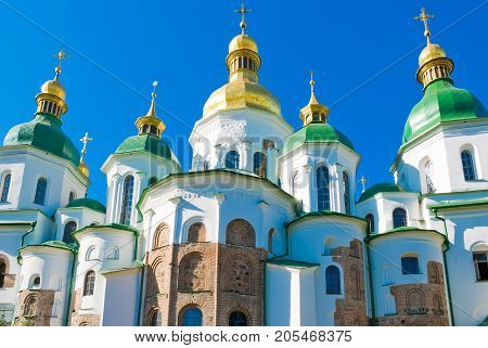 Saint Sophia Cathedral in Kiev (Ukraine) in summer