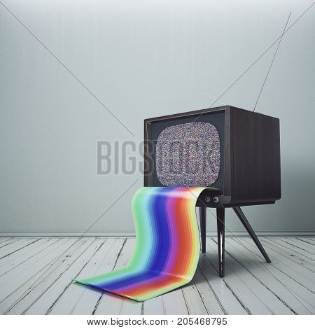 Obsolete Tv With Rainbow Tongue