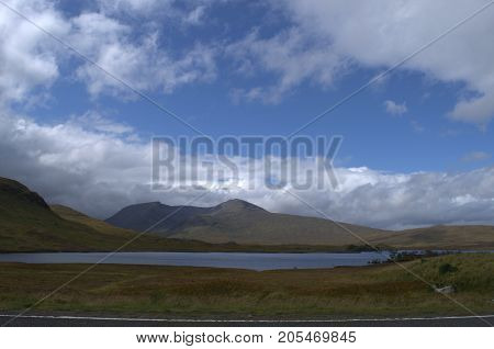 Looking across towards Glencoe from Rannoch Moor in the Scottish Highlands