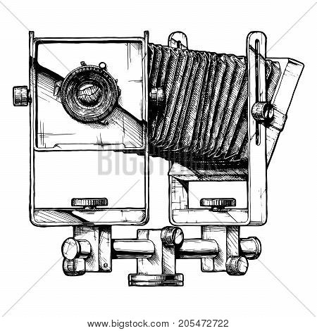 Illustration Of View Camera