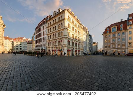 The square in Dresden Day foto. Germany. Europe.