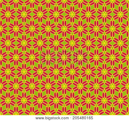 seamless vector pattern made of geometric shapes of red and yellow. For creativity and design